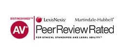 LexisNexis Martindale-Hubbell Distinguished AV For Ethical Standards And Legal Ability Peer Review Rated